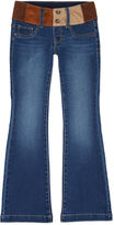 Squeeze Multi-Color Faux-Suede Waist Bootcut Jeans - Girls 7-14