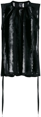 Ann Demeulemeester Sheer Tie Neck Blouse
