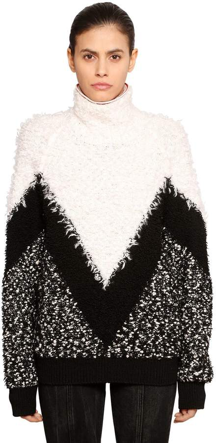 Givenchy Chevron Intarsia Mohair & Wool Sweater