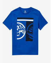 Express blue inverse lion graphic t-shirt