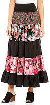 Calessa Tiered Floral Maxi Skirt
