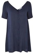 Glamorous **Button Front T-Shirt Dress