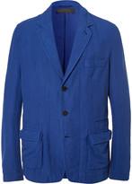 Haider Ackermann - Blue Unstructured Stretch Cotton And Linen-blend Blazer