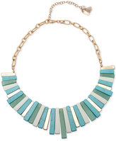 lonna & lilly Gold-Tone Stone and Metal Bar Statement Necklace