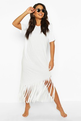 boohoo Maxi Tassel Beach Dress
