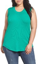 Melissa McCarthy Plus Size Women's Ribbed Tank