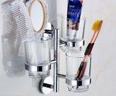 RENIST Brass 180 Degree Rotatable Toothbrush Holder Chrome