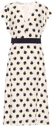 Stella McCartney Silk crepe de chine midi dress