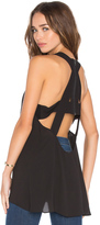 BCBGMAXAZRIA Rorry Zip Up Cross Back Tank