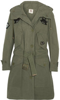 Figue Field Appliquéd Cotton Jacket - Army green