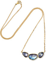 Brooke Gregson - Orbit 3 18-karat Gold Sapphire Necklace - one size
