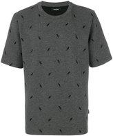 Calvin Klein embroidered T-shirt - men - Cotton/Spandex/Elastane/polyester - M