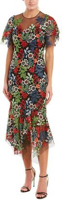 Teri Jon By Rickie Freeman Midi Dress