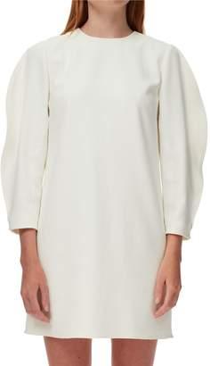 Tibi Chalky Drape Origami-Sleeve Shift Dress