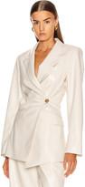 Nanushka Blair Jacket in Off-White | FWRD