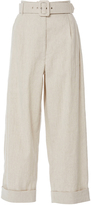 Isa Arfen Safari Linen Tapered Trousers