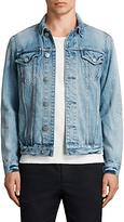 AllSaints Dustout Denim Jacket, Indigo Blue