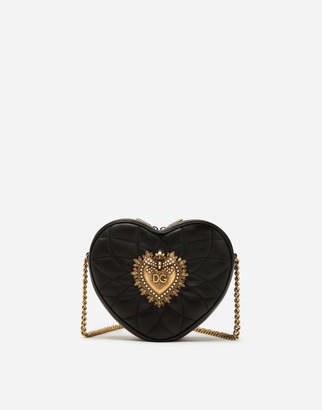 Dolce & Gabbana Devotion Bag In Matelasse Nappa Leather