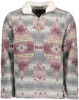 True Grit Red & Green Geo Half-Zip Pullover