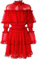 Alexander McQueen A-line mini dress - women - Silk/Cotton/Polyamide/Viscose - 38