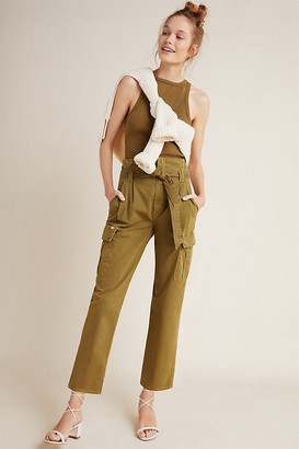 Mother The Greaser Pleated Utility Pants By in Green Size 25