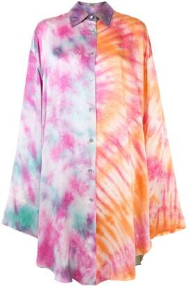 Romance Was Born Freedom Dreams tie-dye shirtdress