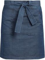 A.P.C. Nairobi cotton-chambray mini skirt