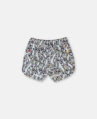 Stella McCartney giraffe cotton shorts