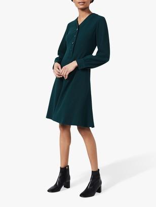 Hobbs Lillian Knee Length Dress, Leaf Green