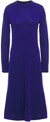 Joseph Asymmetric Melange Merino Wool Midi Dress