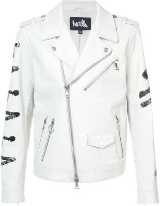 Haculla Eyez on Death biker jacket