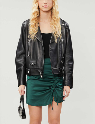 Pacsun x Kendall & Kylie high-waisted satin-crepe mini skirt