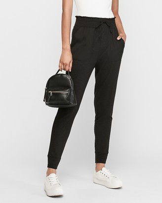 Express Satin Pieced Soft Jogger Pant
