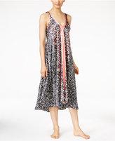 Oscar de la Renta Border-Print Nightgown