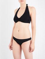 Heidi Klein Body ruched halterneck bikini top
