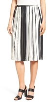 Vince Camuto Women's Stripe Pleat A-Line Skirt