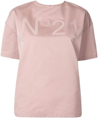 No.21 Logo Boxy Blouse
