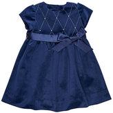 Florence Eiseman Twill Velvet Lattice Dress w/ Pearly Trim, Size 2-6X