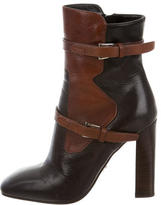 Prada Leather Square-Toe Pumps