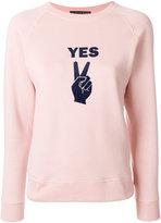 ALEXACHUNG Alexa Chung Yes sweatshirt