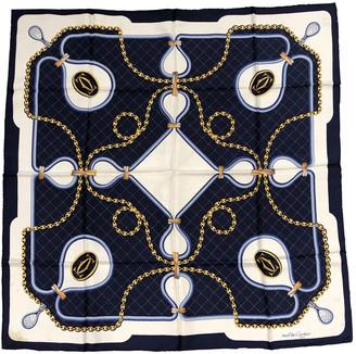 Cartier Blue Silk Silk handkerchief