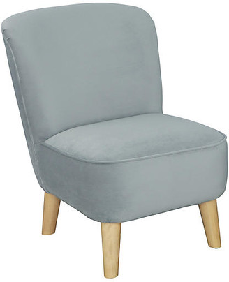 One Kings Lane June Kids' Chair - Pebble Gray - frame, natural; upholstery, pebble gray