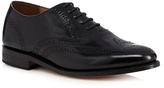 Jeff Banks Goodyear Welted Black Leather Hi Shine Brogues