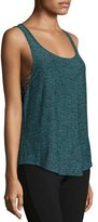 Beyond Yoga Crisscross-Side Jersey Muscle Tank Top, Black/Arctic Teal