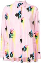 Iceberg floral stripe trapeze shirt