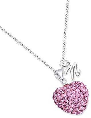 Monogram Online AS3982-SS-Link- 16 in 16 in Crystal Necklace with Initial Option