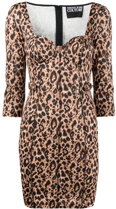 Versace Jeans Couture Animalier Print Mini dress