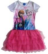 Disney Frozen DISNEY Girls Frozen Family Anna Elsa Velvet Dress Sisters Forever, M (7-8)