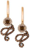 LeVian Le Vian Chocolatier Diamond Swirl Drop Earrings (1-1/4 ct. t.w.) in 14k Rose Gold