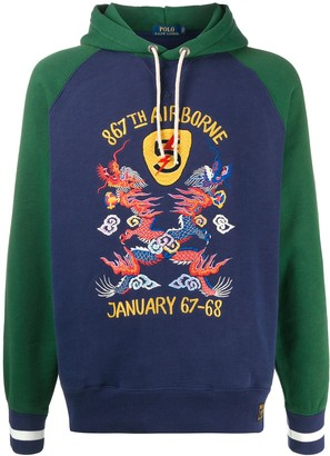 Polo Ralph Lauren Embroidered Colour-Block Hoodie